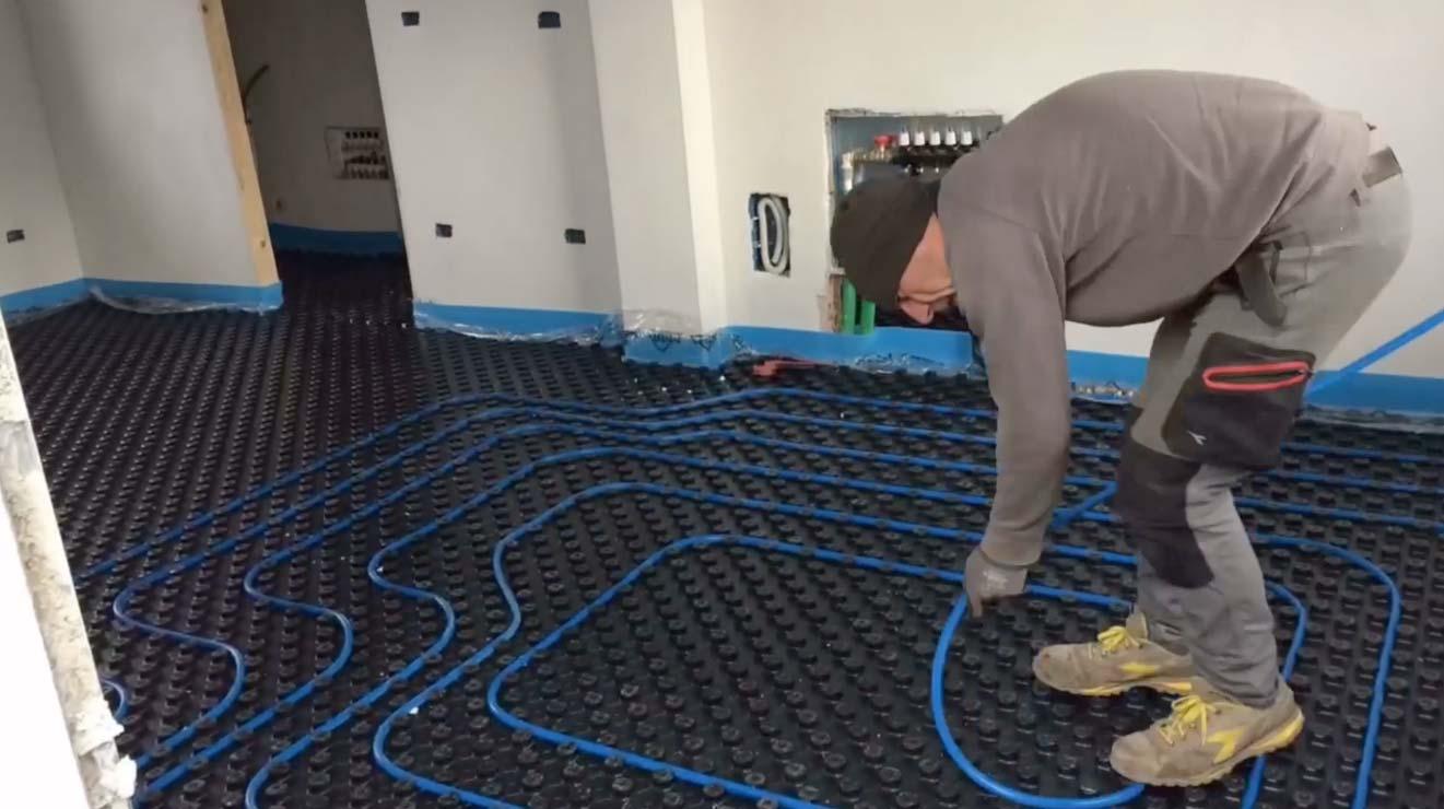 Riscaldamento A Pavimento Tubi il borghetto, il riscaldamento a pavimento radiante per